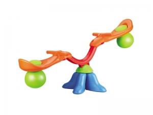 Balansoar AliBibi pt interior sau exterior, din plastic, cu doua locuri pentru copii