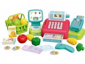 Casa de marcat AliBibi, accesorii si cos de cumparaturi, scanner, plata cu card si cantar