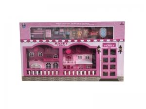 Casa pentru papusi Alibibi cu 3 papusi, 1 casa si mobilier