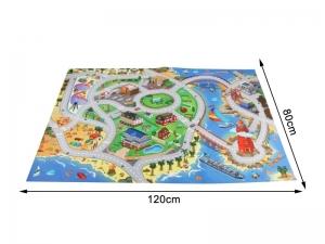 Covor interactiv pentru copii Alibibi cu drumuri dreptunghiular cu masinute incluse