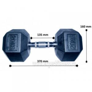 Gantera hexagonala 20kg Sportmann