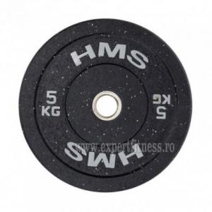 Greutate Bumper Plate 5 kg/51 mm HMS HTBR05-gri