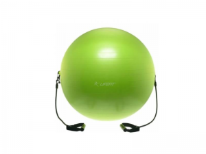 Minge gimnastica cu corzi verde 55cm