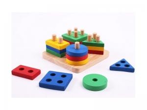Puzzle lemn forme geometrice AliBibi