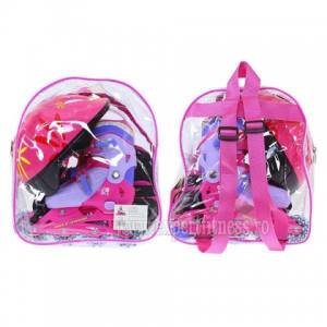Role Nils Exteme Pink 4 in 1 rucsac, set protectie, casca, role