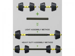 Set gantere reglabile FitTronic 50 kg FG50