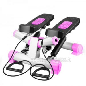 Stepper twist cu corzi  FitTronic S01 Roz