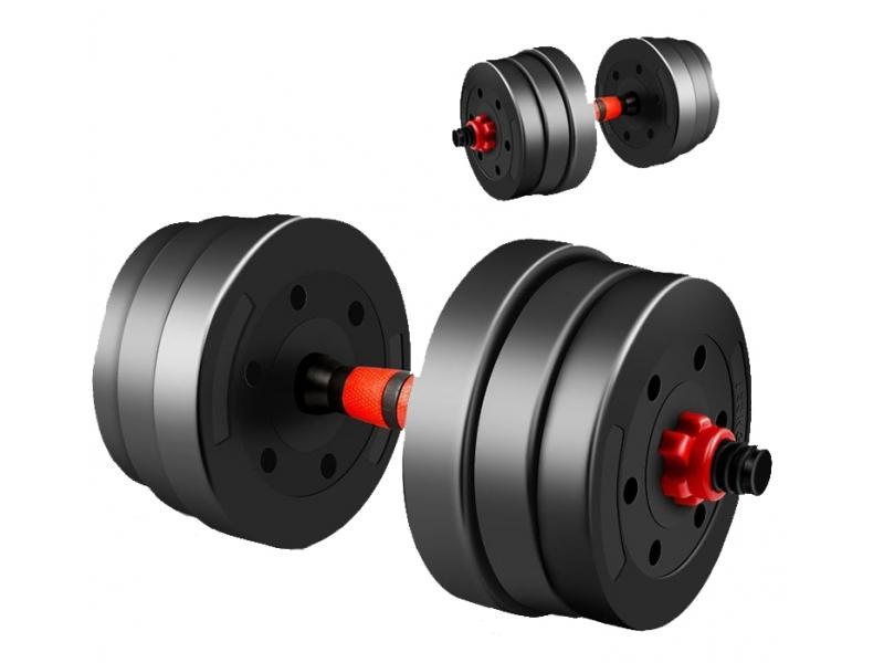 Set Gantera reglabila BodyFit 2 x 10 kg