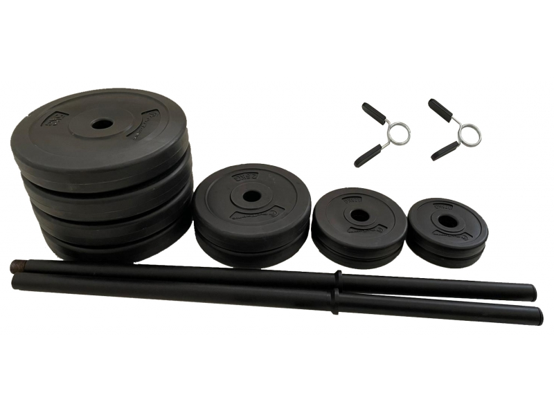 Set haltera si gantere FitTronic 50 kg